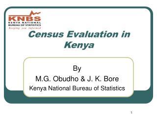 Census Evaluation in Kenya