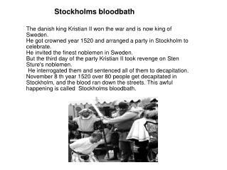 Stockholms bloodbath