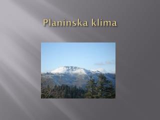 Planinska klima