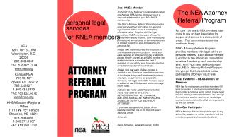 ATTORNEY REFERRAL PROGRAM