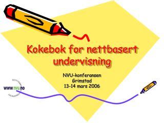 Kokebok for nettbasert undervisning