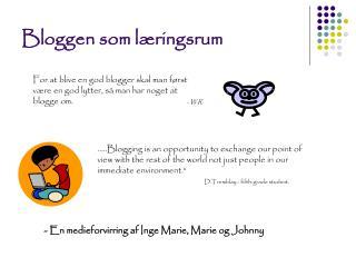 Bloggen som læringsrum