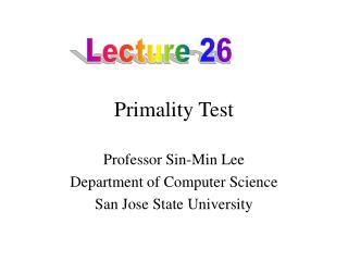 Primality Test