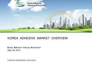 korea   adhesive  market  overview