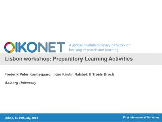 Lisbon workshop :  Preparatory Learning Activities