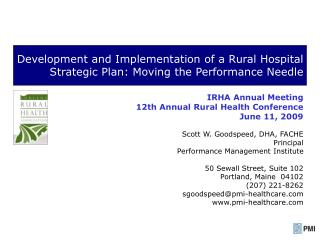 Development and Implementation of a Rural Hospital Strategic Plan: Moving the Performance Needle