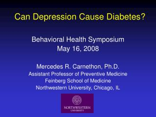 Can Depression Cause Diabetes?