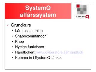 SystemQ affärssystem