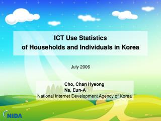 ICT Use Statistics  of Households and Individuals in Korea
