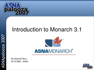 Introduction to Monarch 3.1