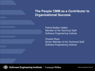 The People CMM as a Contributor to Organizational Success
