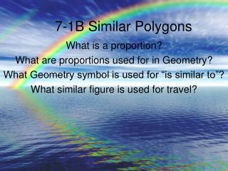 7-1B Similar Polygons
