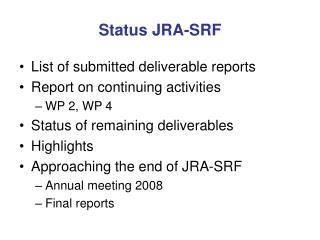 Status JRA-SRF