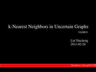 k-Nearest Neighbors in Uncertain Graphs