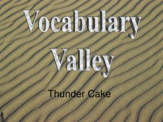 Vocabulary Valley