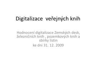 Digitalizace  veřejných knih