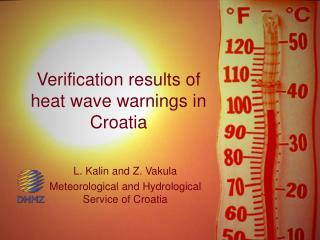 Verification results of heat wave warnings in Croatia