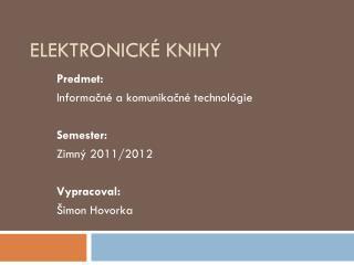 Elektronick� knihy