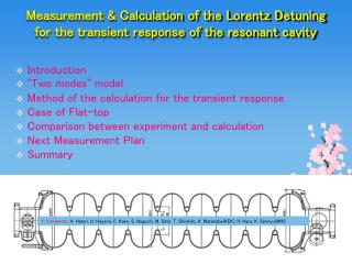Introduction � Two modes �  model  Method of the calculation for the transient response
