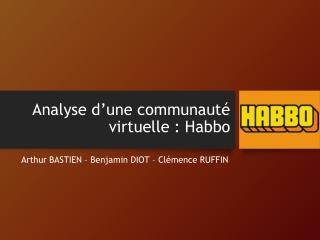 Analyse d'une communauté virtuelle : Habbo