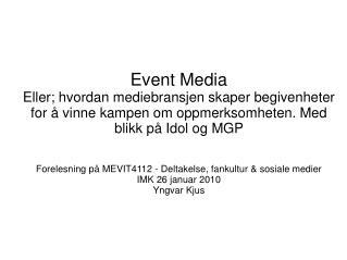 Event Media