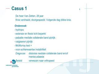 Casus 1                                               1