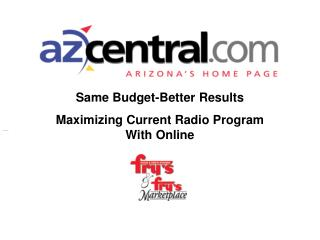 Same Budget-Better Results Maximizing Current Radio Program With Online