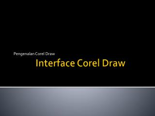 Interface Corel Draw