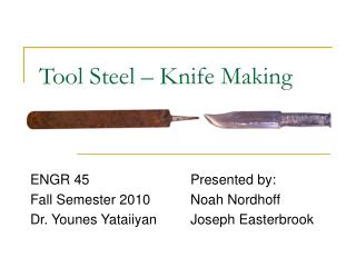 Tool Steel – Knife Making