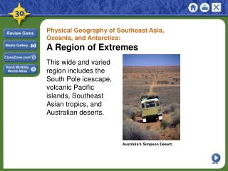 Physical Geography of Southeast Asia, Oceania, and Antarctica:  A Region of Extremes