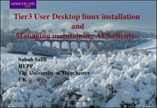 Sabah Salih HEPP The University of Manchester UK