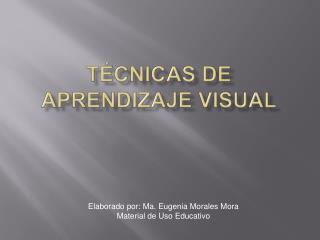 T cnicas de Aprendizaje Visual