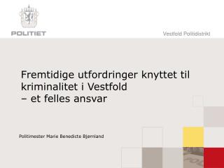 Fremtidige utfordringer knyttet til kriminalitet i Vestfold  – et felles ansvar
