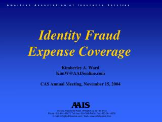 Identity Fraud  Expense Coverage