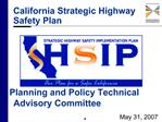 California Strategic Highway Safety Plan
