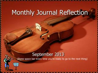 Monthly Journal Reflection