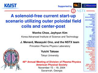 A solenoid-free current start-up scenario utilizing outer poloidal field coils and center-post
