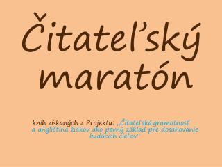 Čitateľský maratón