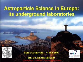 Astroparticle Science in Europe: its underground laboratories