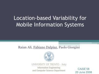 Location-based Variability for Mobile Information Systems