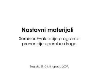 Nastavni materijali