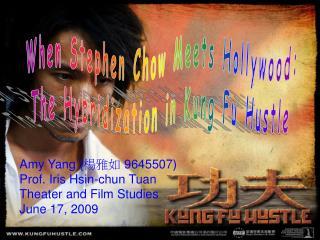 Amy Yang ( 楊雅如  9645507) Prof. Iris Hsin-chun Tuan Theater and Film Studies June 17, 2009