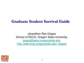 Graduate Student Survival Guide