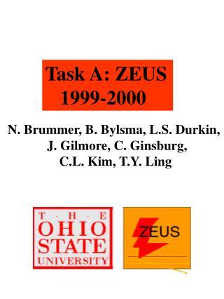Task A: ZEUS    1999-2000