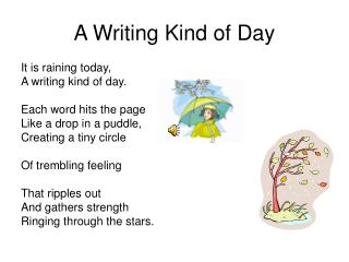A Writing Kind of Day