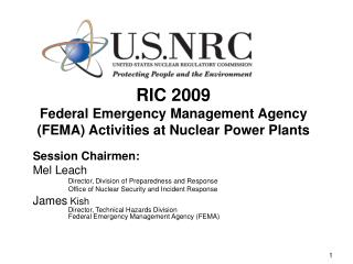 RIC 2009 Federal Emergency Management Agency  (FEMA) Activities at Nuclear Power Plants