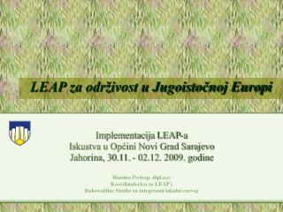 LEAP za održivost u Jugoistočnoj Europi