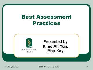 Best Assessment Practices