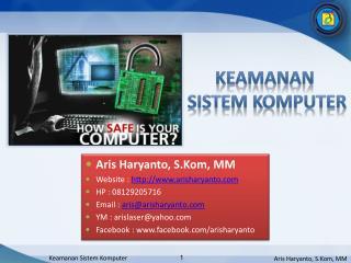 K eamanan  sistem KOMPUTER