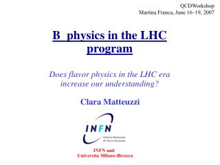 B  physics in the LHC program Does flavor physics in the LHC era  increase our understanding?